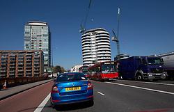 UK ENGLAND LONDON 21APR15 - Nine Elms construction area in Vauxhall, London.<br /> <br /> <br /> <br /> jre/Photo by Jiri Rezac<br /> <br /> <br /> <br /> © Jiri Rezac 2015