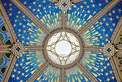 THEMENBILD - Madrid ist seit Jahrhunderten der geographische, politische und kulturelle Mittelpunkt Spaniens (siehe Kastilien) und der Sitz der spanischen Regierung. Hier residieren auch der König, ein katholischer Erzbischof sowie wichtige Verwaltungs- und Militärbehörden. Als Handels- und Finanzzentrum hat die Stadt nationale und internationale Bedeutung. Hier im Bild bemalte Innendecke der Kuppel, Innenansicht, Catedral de Nuestra Senora de la Almudena, Santa Maria la Real de La Almudena, Almudena-Kathedrale // THEMATIC PACKAGES - Madrid is the capital and largest city of Spain. The population of the city is roughly 3.3 million and the entire population of the Madrid metropolitan area is calculated to be around 6.5 million. It is the third-largest city in the European Union, after London and Berlin, and its metropolitan area is the third-largest in the European Union after London and Paris. The city spans a total of 604.3 km2. EXPA Pictures © 2014, PhotoCredit: EXPA/ Eibner-Pressefoto/ Weber<br /> <br /> *****ATTENTION - OUT of GER*****