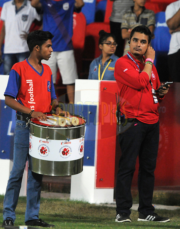 ISL staff during match 23 of the Indian Super League (ISL) season 2  between Mumbai City FC and NorthEast United FC held at the D.Y. Patil Stadium, Navi Mumbai, India on the 28th October 2015.<br /> <br /> Photo by Pal Pillai / ISL/ SPORTZPICS