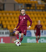 10th November 2017, McDiarmid Park, Perth, Scotland, UEFA Under-21 European Championships Qualifier, Scotland versus Latvia; Latvia's Ingars Stuglis