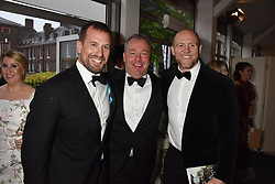 Peter Phillips, David Yarrow and Mike Tindall at the Tusk Ball at Kensington Palace, London, England. 09 May 2019.