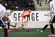 AMSTELVEEN - Augustin Mazzilli (Oranje-Rood)  tijdens   de hoofdklasse hockeywedstrijd AMSTERDAM-ORANJE ROOD (4-5). COPYRIGHT KOEN SUYK