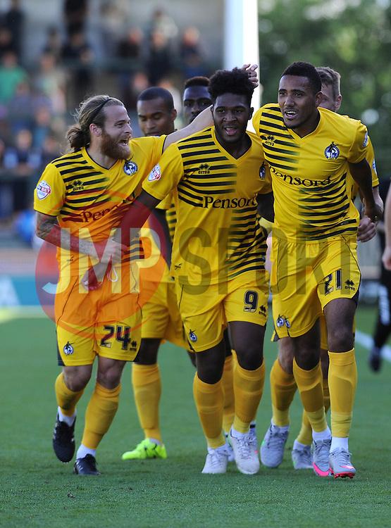 celebrations - Mandatory byline: Neil Brookman/JMP - 07966386802 - 15/08/2015 - FOOTBALL - Huish Park -Yeovil,England - Yeovi Town v Bristol Rovers - Sky Bet League One