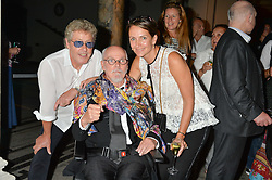 SAFFRON ALDRIDGE, ALAN ALDRIDGE and ROGER DALTREY at a private view of Revolution: Records and Rebels 1966-1970 at the V&A, London on 7th September 2016.
