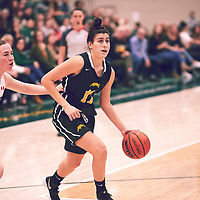 2nd year guard, Carolina Goncalves (11) of the Regina Cougars during the Women's Basketball Home Game on Sat Feb 02 at Centre for Kinesiology,Health and Sport. Credit: Arthur Ward/Arthur Images