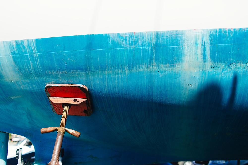 Boat at Marina Rockland Maine.