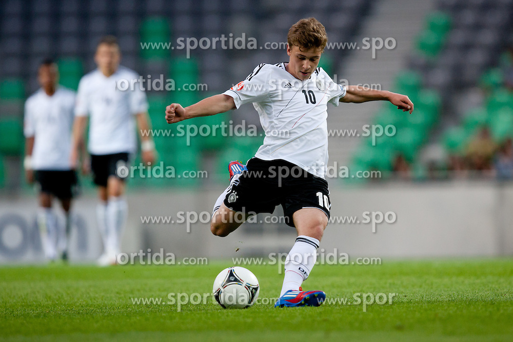 Maximilian Meyer of Germany during the UEFA European Under-17 Championship Group A match between Germany and France on May 10, 2012 in SRC Stozice, Ljubljana, Slovenia. (Photo by Matic Klansek Velej / Sportida.com)
