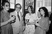 "Guinness Launch ""Guinness Light"".  (M79)..1979..26.06.1979..06.26.1979..26th June 1979..At the Guinness Theatre in St James Gate Brewery,Guinness launched ""Guinness Light"". With a spectacular show Guinness brought to the market a new lighter version of its world famous stout. it is hoped that it will fill a niche with younger drinkers frequenting Ireland's pubs and clubs..Pictured at the Guinness Light launch were Adrianne Griffin, Guinness, Jim Flannery, Chief Executive, Irish Hotels Federation, Anne Brady, G.G.S.I. and Marian Mollaghan C.G.S.I."
