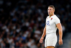 England Inside Centre Sam Burgess looks on - Mandatory byline: Rogan Thomson/JMP - 07966 386802 - 15/08/2015 - RUGBY UNION - Twickenham Stadium - London, England - England v France - QBE Internationals 2015.