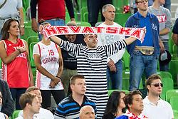 Fans of Croatia during basketball match between national team of Finland and Croatia of Eurobasket 2013 on September 12, 2013 in SRC Stozice, Ljubljana, Slovenia. (Photo By Matic Klansek Velej / Sportida.com)
