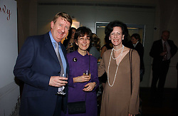 Left to right, PROF BRIAN ALLEN Director of the Paul Mellon Centre for British Art, his wife KATINA ALLEN and  AMY MEYERS Director of the Yale Center for British Art at 'Britannia & Muscovy English Silver at The Court of The Tsars' exhibition opening at the Gilbert Collection, Somerset House, London on 20th October 2006<br /><br />NON EXCLUSIVE - WORLD RIGHTS