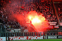 ALKMAAR - 22-10-15, Europa League, AZ - FC Augsburg, AFAS Stadion, 0-1,vuurwerk, fakkels.