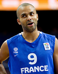 Tony Parker of France during final basketball game between National basketball teams of Spain and France at FIBA Europe Eurobasket Lithuania 2011, on September 18, 2011, in Arena Zalgirio, Kaunas, Lithuania. (Photo by Vid Ponikvar / Sportida)