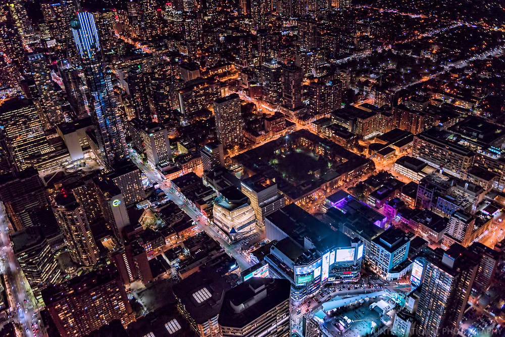 Yonge Street & Dundas Square (bottom right)
