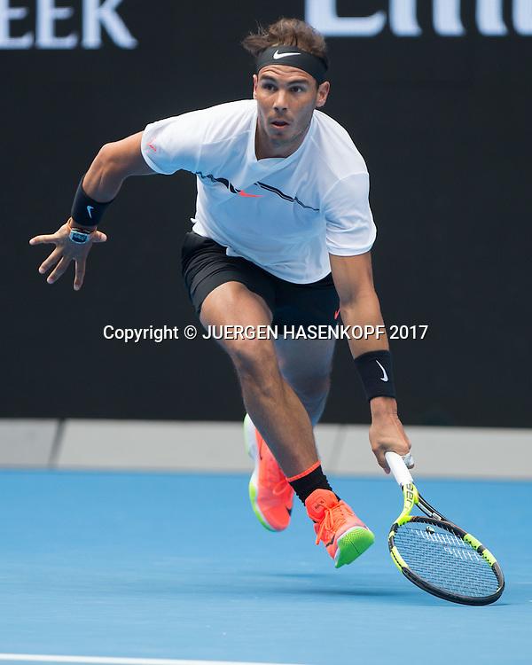 RAFAEL NADAL (ESP)<br /> <br /> Australian Open 2017 -  Melbourne  Park - Melbourne - Victoria - Australia  - 17/01/2017.