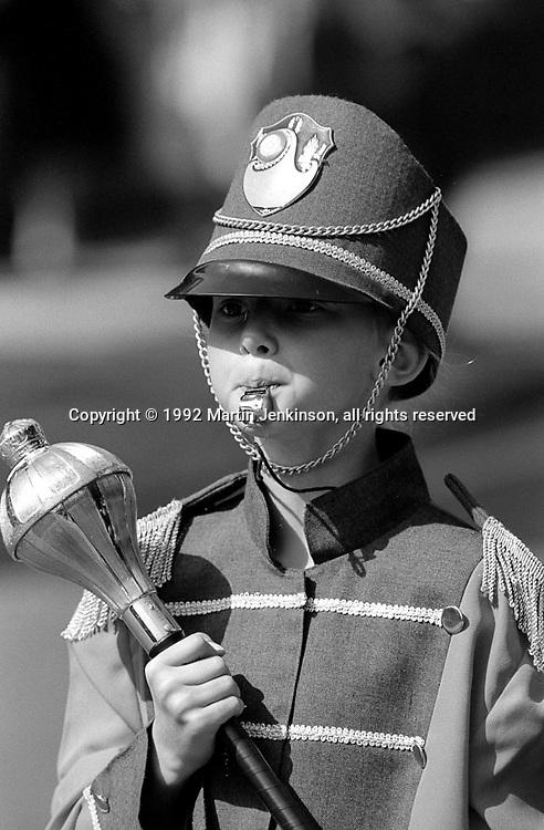 Upton Beaconettes Jazz Band, 1992 Yorkshire Miners Gala, Barnsley.