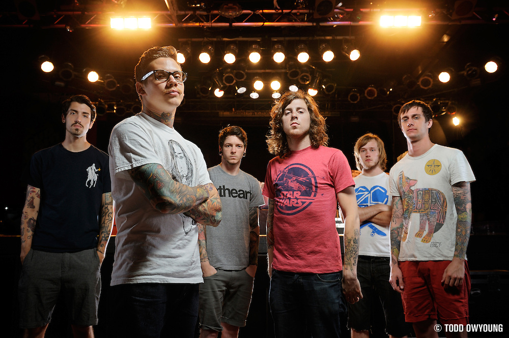 "Portraits of the metalcore band The Devil Wears Prada, photographed on the ""Back to the Roots"" tour on July 16, 2010 by music photographer Todd Owyoung."