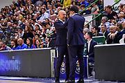 Stefano Sardara, Edoardo Casalone<br /> Banco di Sardegna Dinamo Sassari - Germani Basket Brescia<br /> Legabasket LBA Serie A 2019-2020<br /> Sassari, 01/12/2019<br /> Foto L.Canu / Ciamillo-Castoria