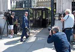 © Licensed to London News Pictures. 02/06/2020. London, UK. Conservative MP LIAM FOX Is seen arriving at The Houses of Parliament in London ahead of a 90-minute debate on the new voting system and a series of votes this afternoon. Government has introduced further measures to slowly ease lockdown, which was introduced to fight the spread of the COVID-19 strain of coronavirus. Photo credit: Ben Cawthra/LNP