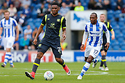 Carlisle United's Kelvin Etuhu  during the EFL Sky Bet League 2 match between Colchester United and Carlisle United at the Weston Homes Community Stadium, Colchester, England on 14 October 2017. Photo by Phil Chaplin