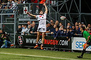 Alexis Palisson of Lyon during the French Championship Top 14 Rugby Union match between US Oyonnax Rugby and Lyon OU on April 28, 2018 at Charles Mathon stadium in Oyonnax, France - Photo Romain Biard / Isports / ProSportsImages / DPPI