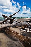 Lake Superior Shoreline, Whitefish Point, Michigan's Upper Peninsula.