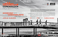 A poster to promote the 2015 Copenhagen Half Marathon