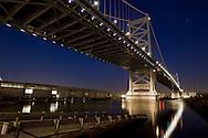 The Benjamin Franklin Bridge in downtown Philadelphia, Pennsylvania.