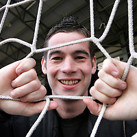 St Johnstone player Peter MacDonald at McDiarmid Park today where he has netted himself a three year contract extension.<br />