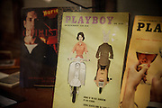 San Francisco, April 3 2012 - At the Beat Museum, some issued of Playboy on display.