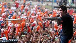 Show da Banda Strike durante o Planeta Atlântida 2013/RS, que acontece nos dias 15 e 16 de fevereiro na SABA, em Atlântida. FOTO: Itamar Aguiar/Preview.com