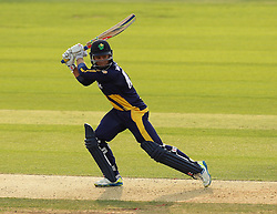 Glamorgan's Mark Wallace hits a four - Photo mandatory by-line: Robbie Stephenson/JMP - Mobile: 07966 386802 - 03/07/2015 - SPORT - Cricket - Southampton - The Ageas Bowl - Hampshire v Glamorgan - Natwest T20 Blast