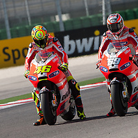 2011 MotoGP World Championship, Round 13, Misano, Italy, 4 September 2011, Valentino Rossi, Nicky Hayden