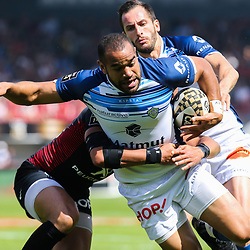 Saimone Taumoepeau of Castres during the French Top 14 Playoffs match between Stade Toulousain and Castres at Stade Ernest Wallon on May 19, 2018 in Toulouse, France. (Photo by Laurent Frezouls/Icon Sport)