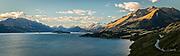 Sunset view from Bennett's Bluff, Lake Wakatipu, New Zealand