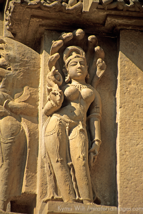 Asia, India, Khajuraho. Erotic carved figures remind visitors to leave sexual or physical desires outside the temple.