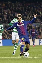 December 5, 2017 - Barcelona, Catalonia, Spain - Andre Gomes during the UEFA Champions League match between FC Barcelona and Sporting CP Lisboa at the Camp Nou Stadium in Barcelona, Catalonia, Spain on December 5,2017  (Credit Image: © Miquel Llop/NurPhoto via ZUMA Press)