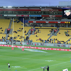 Tag Heuer countdown at the 2017 HSBC World Sevens Series Wellington final Fiji vs South Africa, Westpac Stadium in Wellington, New Zealand on Sunday, 29 January 2017. Photo: Kerry Marshall / lintottphoto.co.nz
