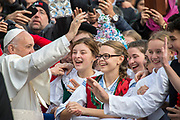 Pope Francis gives his weekly general audience at St Peter's square on November 15, 2017 in Vatican city.