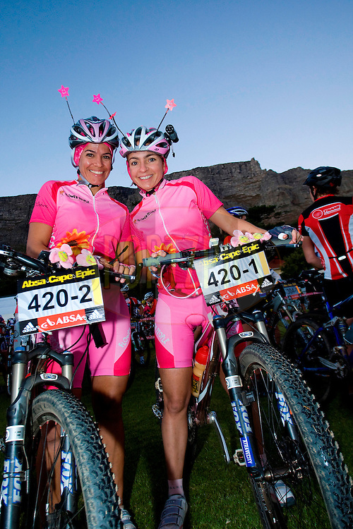 CAPE TOWN, SOUTH AFRICA - 21 March 2009, Adriana Boccia and Luciana Cox during the Absa Cape Epic Prologue held in Table Mountain National Park as part of the Absa Cape Epic Mountain Bike stage race 2009 Western Cape, South Africa..Photo by Nick Muzik  /SPORTZPICS
