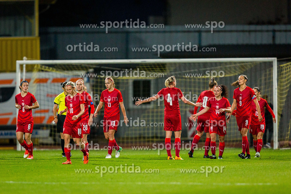 Players of Czech Republic celebrates during football match between Slovenia and Czech Republic in Womens Qualifications for World Championship 2019, on October 20, 2017 in Stadion Domzale, Domzale, Slovenia. Photo by Ziga Zupan / Sportida