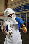 Dart fan in fancy dress during the World Darts Championship at Alexandra Palace, London, United Kingdom on 23 December 2015. Photo by Shane Healey.