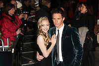 LONDON - DECEMBER 05: Amanda Seyfried; Eddie Redmayne attended the World Film Premiere of 'Les Miserables' at the Empire Cinema, Leicester Square, London, UK. December 05, 2012. (Photo by Richard Goldschmidt)
