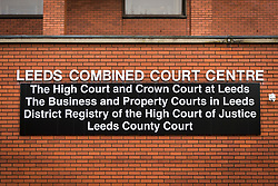 © Licensed to London News Pictures. 04/05/2018. Leeds UK. Picture shows Leeds Crown Court this morning where two 15 year old boys who cannot be named are on trial for conspiracy to murder. They allegedly planned to attack a school in Northallerton in North Yorkshire. It is alleged the pair intended to shoot & kill other pupils & teachers against whom they held a grievance. Prosecutors allege the pair hero-worshiped two students who killed 12 pupils & a teacher at Columbine High School in Colorado USA in 1999.  Photo credit: Andrew McCaren/LNP