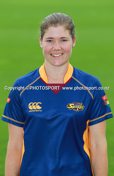 Victoria Abbott. Otago Sparks head shots, Bert Sutcliffe Oval, Lincoln University, Thursday 29 December 2011. Photo : Joseph Johnson / photosport.co.nz