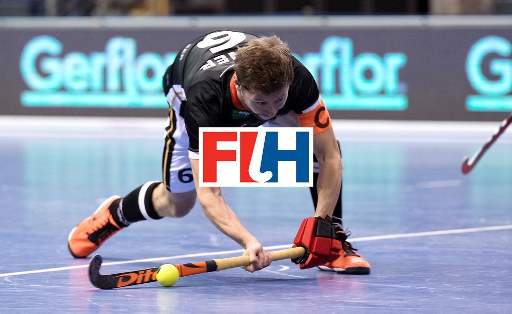 BERLIN - Indoor Hockey World Cup<br /> Men: Germany - Australia<br /> foto: Martin H&auml;ner.<br /> WORLDSPORTPICS COPYRIGHT FRANK UIJLENBROEK