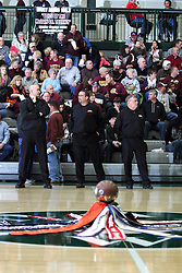 22 January 2016: IHSA Basketball game during the McLean County Tournament at Shirk Center in Bloomington Illinois - Boys Semifinal, LeRoy v Blue Ridge