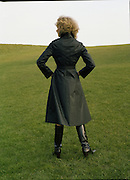 08/02/1978.02/08/1978.8th February 1978.Picture of a model wearing a ladies black coat by Janelle of Finglas.