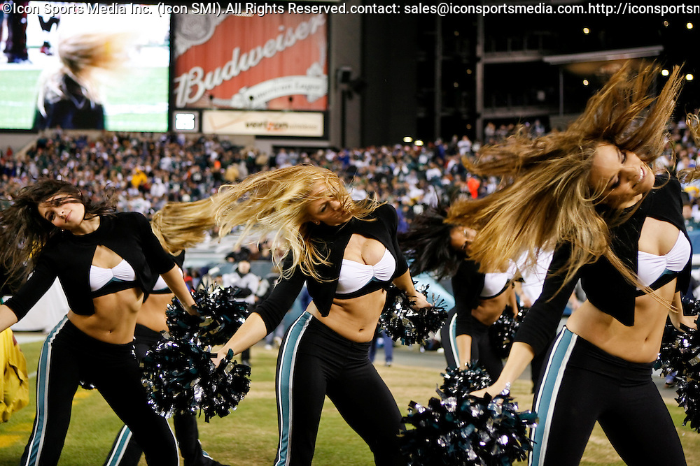 15 Dec 2008: Philadelphia Eagles cheerleaders perform during the game against the Cleveland Browns on December 15th, 2008. The Eagles won 30-10 at Lincoln Financial Field in Philadelphia, Pennsylvania