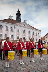 Drum Girls, Town Hall Square, Tartu, Estonia, Europe